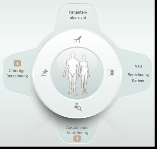 Startseite von CareSolution: Patienten mit parenteraler Ernährung anlegen